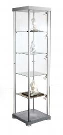 Kerkmann 3760 Glasvitrine EXPOLine quadratisch Maße (BxTxH) 425x425x1800mm