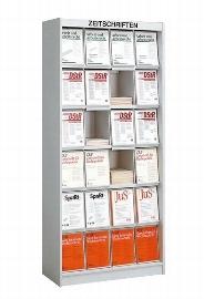 Kerkmann 3790 Zeitschriftenschrank MEDIA 24 Fächer Klappen (BxH) 220x310mm MEDIA, 24 FÄCHER -ZERLEGT-