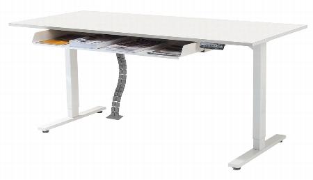 Kerkmann MOVE 3 Steh-/Sitz Schreibtisch 3806 T-Fuß (BxT) 160x80cm elektr. höhenverstellbar Grafit