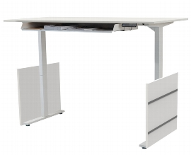 Kerkmann 3837 Sitz-/Stehtisch Form 4 180cm elektr. höhenverstellbar Grafit