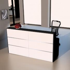 Kerkmann 3852 Design-Theke Cento 3  (BxTxH) 2000 x 800 x 1100 mm