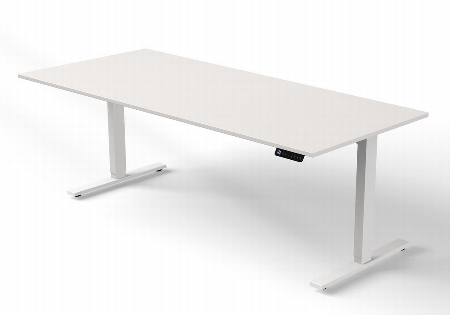 Kerkmann MOVE 3 Steh-/Sitz Schreibtisch 3865 T-Fuß (BxT) 180x100cm elektr. höhenverstellbar Grafit