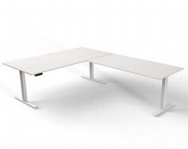 Kerkmann MOVE 4 Steh-/Sitz Schreibtisch 3976 Anbau 160 T-Fuß (BxTxH) 200x100x62-127cm elektrisch Weiß