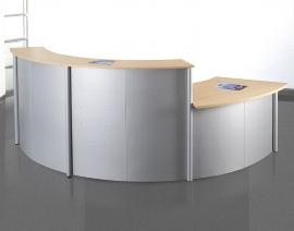 Kerkmann Kompakttheke Genua (1x3990 1x3992 1x3991) BxTxH 3605x700x1150mm Silber/Buche