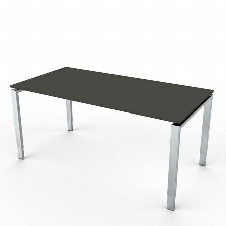 Kerkmann 4010 Schreibtisch AVETO Edelstahl 4-Fuß höhenverstellbar (BxTxH) 160x80x68-82cm Weiß