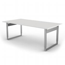 Kerkmann 4057 Form 5 Schreibtisch mit Bügelgestell (BxTxH) 200 x 100 x 68-82cm Grafit