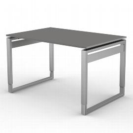Kerkmann 4050 Form 5 Schreibtisch mit Bügelgestell (BxTxH) 120 x 80 x 68-82cm Grafit