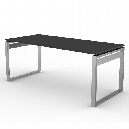 Kerkmann 4052 Form 5 Schreibtisch mit Bügelgestell (BxTxH) 180 x 80 x 68-82cm Grafit