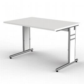Kerkmann 4105 Schreibtisch Form 4 C-Fuß höhenverstellbar (BxTxH) 120x80x68-82cm Lichtgrau