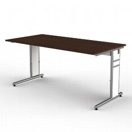 Kerkmann 4101 Schreibtisch Form 4 C-Fuß höhenverstellbar (BxTxH) 160x80x68-82cm Weiß