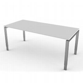 Kerkmann 4142 Schreibtisch Form 5 4-Fuß höhenverstellbar (BxTxH) 180x80x68-82cm Lichtgrau