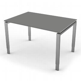 Kerkmann 4150 Schreibtisch Form 5 4-Fuß höhenverstellbar (BxTxH) 120x80x68-82cm Grafit