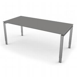 Kerkmann 4152 Schreibtisch Form 5 4-Fuß höhenverstellbar (BxTxH) 180x80x68-82cm Grafit