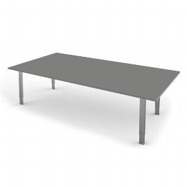 Kerkmann 4157 Schreibtisch Form 5 4-Fuß höhenverstellbar (BxTxH) 200x100x68-82cm Grafit