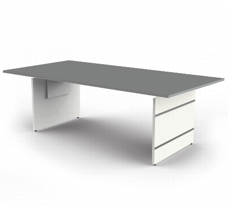 Kerkmann 4404.1 Schreibtisch Form 4 Wangengestell (BxTxH) 180 x 80cm höhenverstellbar 68-76cm Grafit