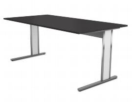 Kerkmann 4510.1 Schreibtisch AVETO Edelstahl C-Fuß (BxTxH) 1600 x 800 x 750 mm Tischplatte Weiß