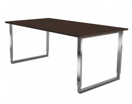 Kerkmann 4513.1 Schreibtisch AVETO Bügelgestell Edelstahl (BxTxH) 1600 x 800 x 680-820mm Tischplatte Weiß