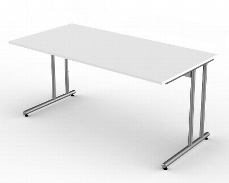 Kerkmann 4347 Schreibtisch start up C-Fuß (BxT) 200x100cm Grafit