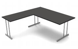 Kerkmann 4371 Winkel Schreibtisch start up C-Fuß (BxT) 180x80cm Grafit