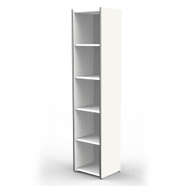 Kerkmann 4436 Regal schmal 5OH (BxTxH) 410 x 380 x 1830mm Stellfüße Weiß