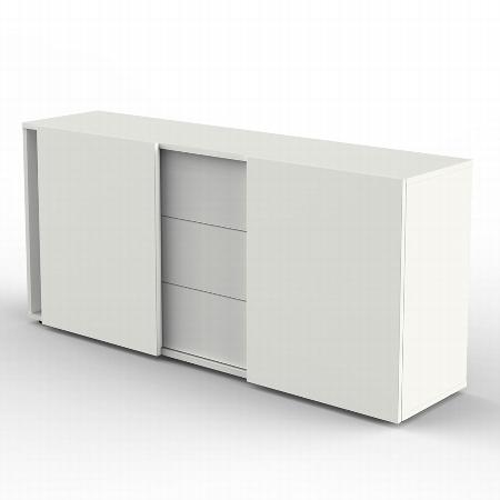 Kerkmann 4487 Sideboard (BxTxH) 160 x 50 x 74 cm Schiebetüren+Schubladen Weiß