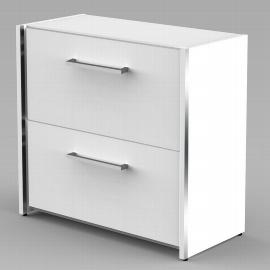 Kerkmann AVETO Sideboard mit 2 Hängeregistraturauszügen 2OH (BxTxH) 800x380x760mm Weiß