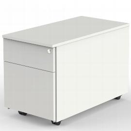 Kerkmann 4559 Rollcontainer (BxTxH) 42x80x54cm mit Hängeregistratur Weiß