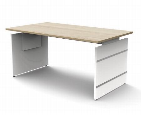 Kerkmann 4178 Schreibtisch Form 4 Wangengestell (BxTxH) 200x100cm höhenverstellbar 68-76cm Wenge