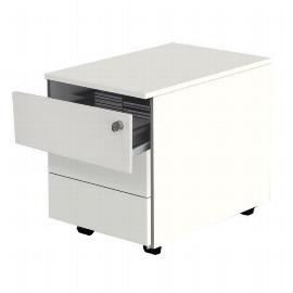 Kerkmann 4647 Rollcontainer 3 Schubladen (BxTxH) 42x60x54cm Weiß