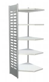 Kerkmann 5838 Design-Regal M2 Eckfeld 4 Eckböden (TxH) 40 X 220cm