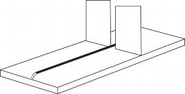 Kerkmann 5937 Trennsteg verzinkt Breite 96cm (nur für 60cm tiefe Böden)