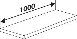 Kerkmann 5945 Fachboden inkl. Bodenhalter (TxB) 50 X 100 cm