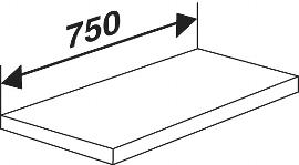 Kerkmann 5948 Fachboden inkl. Bodenhalter (TxB) 40 X  75 cm