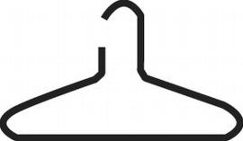 Kerkmann 6002 Kleiderbügel aus Aluminium schwarz beschichtet 4er-Pack