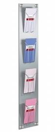 Kerkmann 6196 Wand-Prospekthalter ARTLine 4 Fächer DIN lang