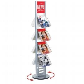 Kerkmann 6346 tec-art Premium Prospektständer drehbar für 12 Prospektfächer (ohne Bestückung)