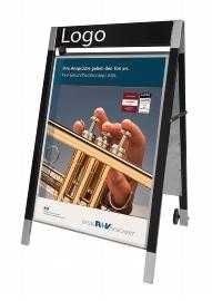 Kerkmann 6899 Plakatständer Elegance für Format DIN A1 beidseitig