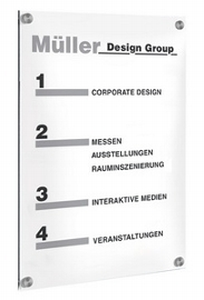 Kerkmann 6952 SiGN Wandschild A3 (BxH) 297x420mm Acrylglas
