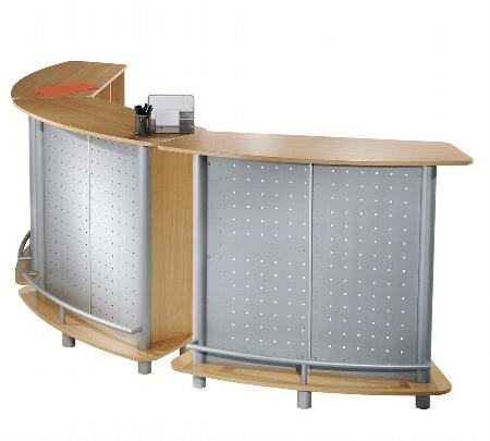 Kerkmann 6996 Counter Expo (BxTxH) 1240x480x1100mm Dekor Buche/Silber