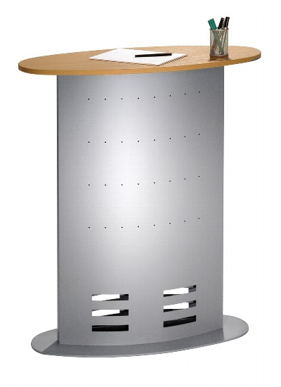 Kerkmann 6998 Counter tec-art (BxTxH) 900x430x1100mm Dekor Buche/Silber