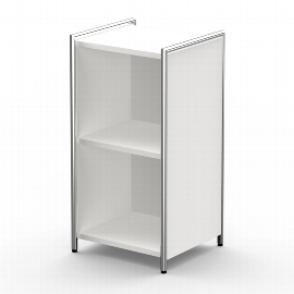 Kerkmann 7342 Sideboard Artline 2OH (BxTxH) 410 x 380 x 780 mm Weiß