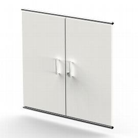 Kerkmann 7391 Vorbautüren Artline 2OH (BxTxH) 750 x 16 x 680mm abschließbar Holz Weiß
