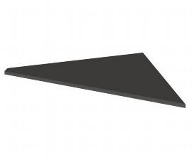 Kerkmann 7656 Verkettungsplatte Artline C-Fuß höhenverstellbar (BxTxH) 85 x 85 x 68-82 cm Anthrazit