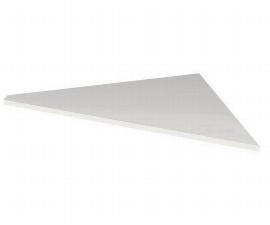 Kerkmann 7666 Verkettungsplatte Artline C-Fuß höhenverstellbar (BxTxH) 85 x 85 x 68-82 cm Weiß