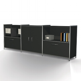 Kerkmann 7914 Sideboard Artline 2OH (BxTxH) 236x38x78cm 2 Schubladen, 1 Türenpaar Weiß