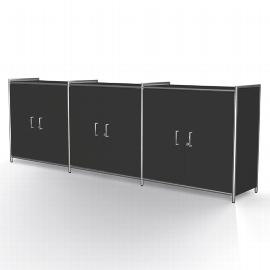 Kerkmann 7917 Sideboard Artline 2OH (BxTxH) 236 x 38 x 78cm 3 Türenpaare E1 Gütespan Anthrazit
