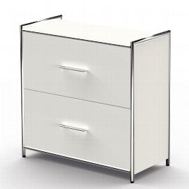 Kerkmann 7996 Sideboard Artline 2OH (BxTxH) 800 x 380 x 780 mm 2 Schubladen Weiß