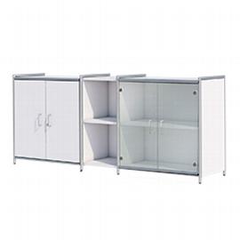 Kerkmann 7999 Sideboard Artline 2OH (BxTxH) 196x38x78cm je 1x Türen Holz/Glas Weiß