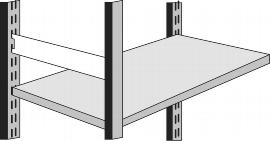 Kerkmann 8406 Seitensteg für Regaltiefe 30 cm