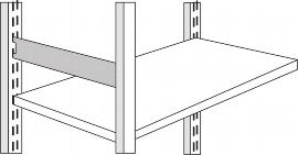 Kerkmann 8408 Seitensteg für Regaltiefe 60 cm